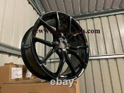 19 New Ford Focus RS MK3 Style Alloy Wheels Gloss Black Focus ST RS 5x108 63.4
