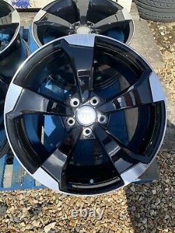 19 New RS3 (TTRS) Style Alloy Wheels Only Black/Diamond Cut for Audi A3 2004-on