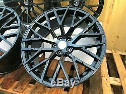 19 New RS5 Style Alloy Wheels 5x112 Gloss Black r8v10 Fits Audi A5 A7 Q5 TT A4