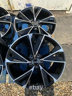 19 New RS7 2020 Style Alloy Wheels Only Black/Polished to fit Audi A4 (B8 & B9)