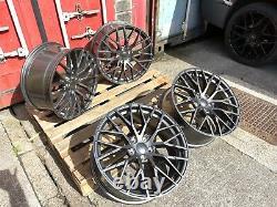19 R8 V10 Style Alloy Wheels Gunmetal Fits Audi A3 A4 A6 A7 Tt Golf Caddy Leon