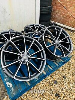 19 RS4 Style Alloy Wheels Only Gunmetal Grey/Polished for Audi A4 (B8 & B9)