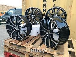 19 Santiago Style Black/polished Alloy Wheels Volkswagen Golf Caddy Audi