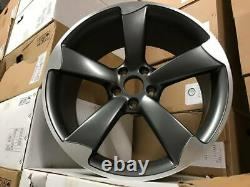 19 TTRS Rotor CONCAVE Style Alloy Wheels Satin Gun Metal Polished Audi A4 A6 A8