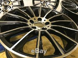 19 Twist C63 style alloy wheels Staggered black pol Mercedes C-Class E-Class