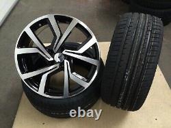 19 VW Golf R Clubsport Style Black Polished Alloy Wheels & Tyres Leon Caddy Gti