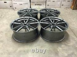 19 x4 Golf R Pretoria Style Alloy Wheels Gloss Gun Metal Volkswagen MK5 MK6 MK7