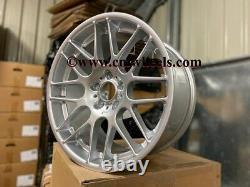 19 x4 New CSL Style Alloy Wheels Quartz Silver BMW 5x120 E46 E90 Z4 F30 E92