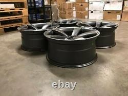 19 x4 TTRS Rotor DEEP CONCAVE Style Alloy Wheels Satin Gun Metal Audi A5 A7 S7