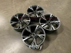 20 2020 RS6 Performance Style Alloy Wheels Satin Gun Metal Audi A5 A7 S5 S7 RS5