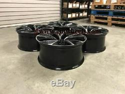 20 2020 RS7 Performance Style Alloy Wheels Black Machined Audi A4 A6 A8 5x112
