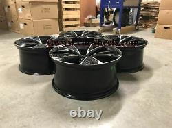 20 2020 RS7 Performance Style Alloy Wheels Black Machined Audi A5 A7 5x112