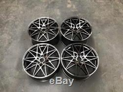 20 666M Competition Style Alloy Wheels Gun Metal Machined M2 M3 M4 Fitment BMW
