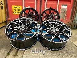 20 811M M8 Style Alloy Wheels Gloss Black Alloys BMW G30 G31 G20 5x112 66.6
