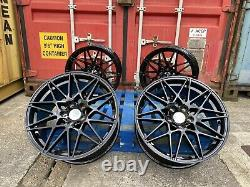 20 Alloy Wheels Alloys Bmw 4 5 Series Black M Performance Competition M3 Style