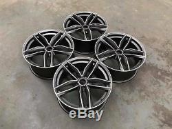20 Audi RS6C Style Alloy Wheels Gun Metal Machined Audi A5 A7 5x112