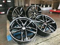 20 Audi RS6 Style Alloy Wheels Gloss Black Machined Audi A4 A5 A6 A7 A8 5x112 C