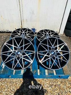 20 BMW 666M Competition Style Alloy Wheels Only Black/Polished for BMW 4 Series