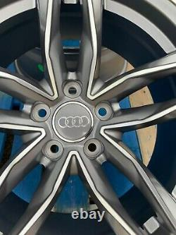20 RS6 Style Alloy Wheels Only Satin Grey/Diamond Cut to fit Audi A6 (C7 & C8)