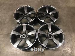 20 TTRS ROTOR Style Alloy Wheels CONCAVE Satin Gun Metal Audi A5 A6 A7 A8