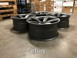20 TTRS ROTOR Style Alloy Wheels DEEP CONCAVE Satin Gun Metal Audi A5 A7 S5 RS5