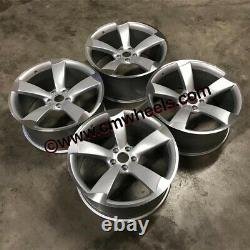 20 TTRS ROTOR Style Alloy Wheels DEEP CONCAVE Silver Machined Audi A7 S7 RS7