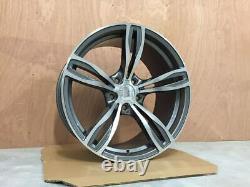 20 x4 New 343M F10 M5 Style Alloy Wheels Gun Metal Machined BMW F10 F11 F12 F13