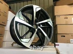 20 x4 New Audi RS5 Style Alloy Wheels Gloss Black Machined Audi Q3 RS Q3 R Line