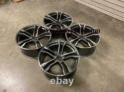 21 2020 SQ8 Style Alloy Wheels CONCAVE Gun Metal Polished Audi A5 A6 A7 Q5 Q7