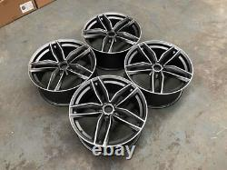 21 RS6 C Style Alloy Wheels Satin Gun Metal Machined Audi A5 A7 S5 S7 RS5 RS7