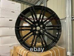 21 x4 New Porsche Macan Turbo 4+ Style Alloy Wheels Gloss Black 5x112