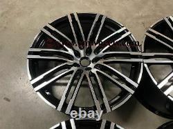21 x4 New Porsche Macan Turbo Style Alloy Wheels Gloss Black Polished 5x112