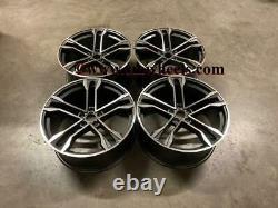 22 2020 SQ8 Style Alloy Wheels CONCAVE Gun Metal Machined Audi Q7 SQ7 5X112