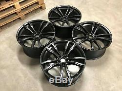 22 NEW X5M X6M 612M Style Alloy Wheels Satin Black BMW E70 E71
