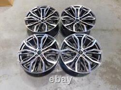22 New X5 X6 375M Style Alloy Wheels Gun Metal Machined BMW E70 E71 F15 F16