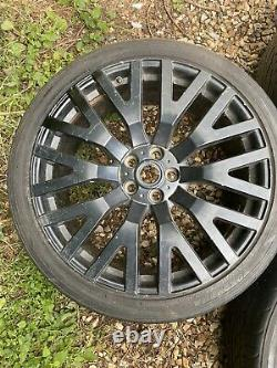 22 Range Rover Khan Style Alloy Wheels Alloys With Tyres 5x120 Stormer