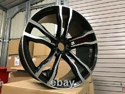 22 Staggered X5 X6 612M Style Alloy Wheels Gloss Black Machined BMW F15 F16