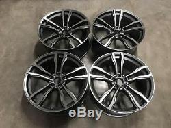 22 X5 X6 612M Style Alloy Wheels Gun Metal Machined BMW E70 E71 F15 F16 F85 X5M