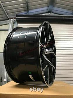 22 X5 X6 741M Style Alloys Wheels Gloss Black Machined BMW E70 E71 F15 F16 F85