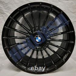 4 New Alloy Wheels 19 Alloys Bmw 3 4 5 Series X3 Black Alpina Style G20 G30 G01