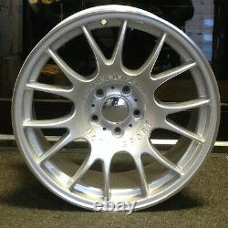 4 x 18 BBS CH STYLE ALLOY WHEELS TO FIT AUDI A3 A4 A6 TT BLACK EDITION SILVER