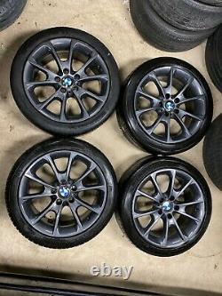 4 x 18 GENUINE BMW 3 SERIES F30 F32 F36 STYLE 398 M SPORT ALLOY WHEELS WINTER