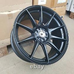 4x 18x8.75 5x100/114 et15 XXR Style Alloy Wheels Matt Black NEW