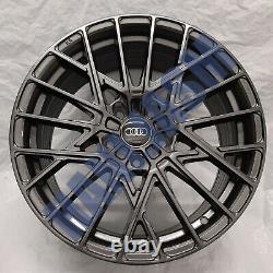 4x New 18 Alloy Wheels Alloys Black Audi Tt A3 Tts Vw Golf R Caddy Bbs Style