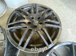 AUDI RS4 STYLE 18 5x112 ALLOY WHEELS CADDY T4 SEAT LEON VW GOLF
