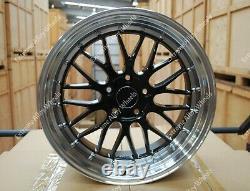Alloy Wheels 18 LM For Volkswagen Transporter T3 T4 Van Campervan 5x112 Black