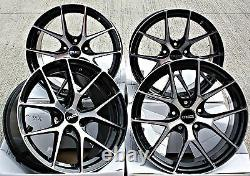 Alloy Wheels 19 19 Inch Alloys 5x114.3 Fitment Concave Style Black Polished