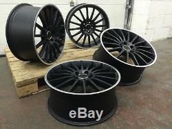 Alloy Wheels 19 Amg Turbine Style Black/pol 8j&9j Mercedes C Class W204 W205