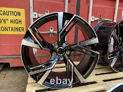 Alloy Wheels 4 x 20 TTRS Twist Style BLACK/Diamond Cut fits Audi A4 A5 A6 A7 A9