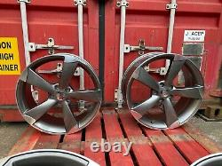 Audi A3 A4 A6 Q2 19 Rs6 Style Alloy Wheels Gun Polished Rs3 Rs4 Rs6 Ttrs Rotor